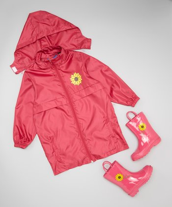 Pink Raincoat & Rain Boots - Kids