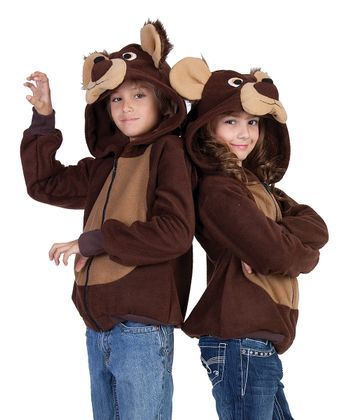 Brown Bailey the Bear Hoodie - Kids