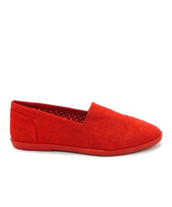 Red Object Slip-On Shoe