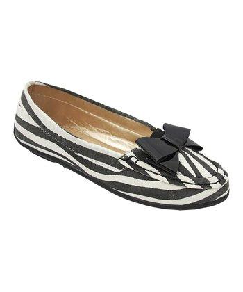 Yokids Black Zebra Abbie Loafer
