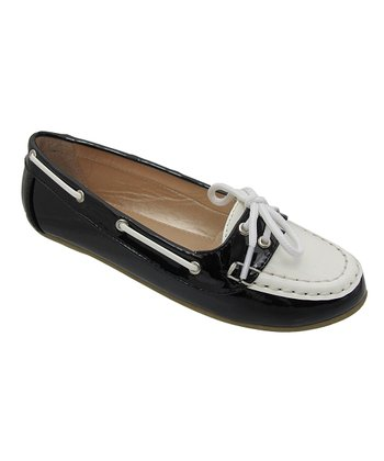 Black & White Abbie Loafer
