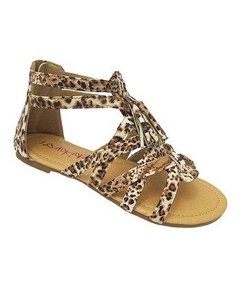 Yokids Leopard Gladiator Sandal