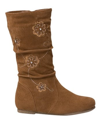 Tan Data Flower Boot
