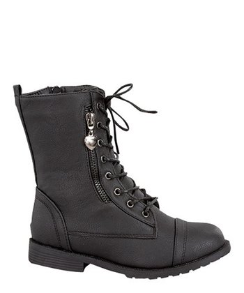 Black Sun Zipper Boot