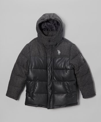 Charcoal Heavyweight Quilted Parka