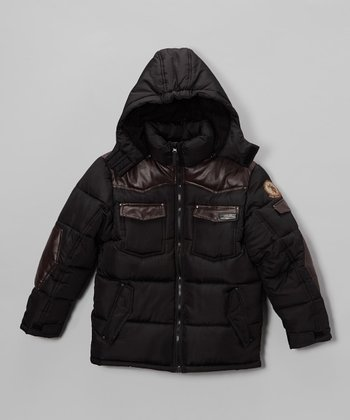Black Heavyweight Puffy Parka