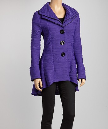 Purple Double Collar Jacket