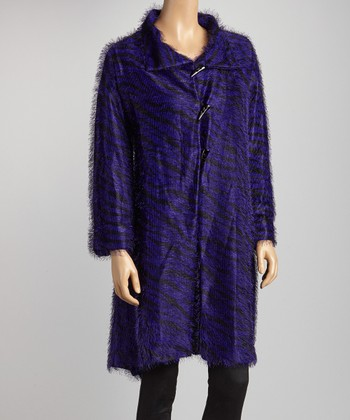Purple & Black Zebra Coat