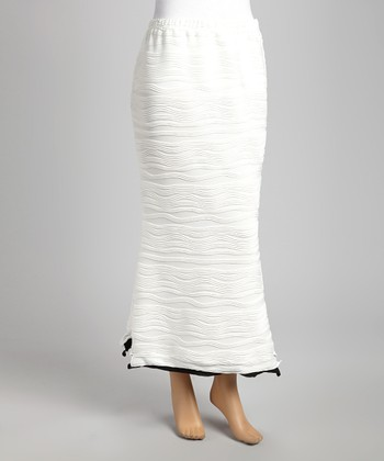 White Wave Maxi Skirt