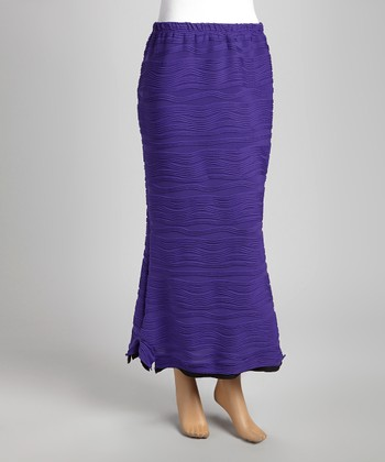 Purple Wave Maxi Skirt