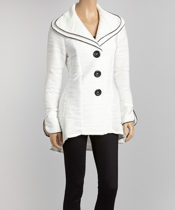 Ivory Wave Hi-Low Jacket