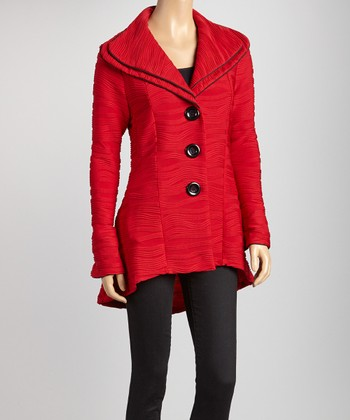 Red Wave Hi-Low Jacket