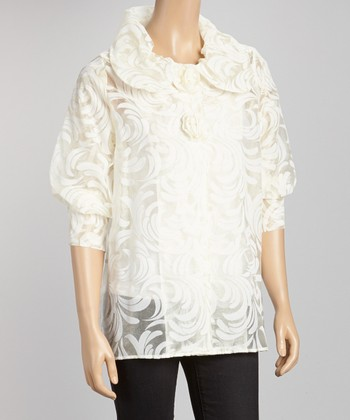 Cream & White Arabesque Jacket