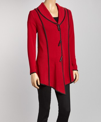 Red & Black Piped Jacket