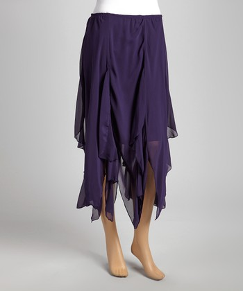Purple Ruffle Skirt