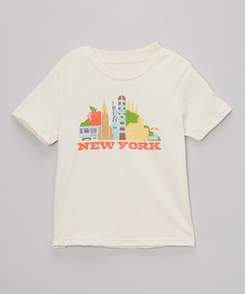 Natural 'New York' Organic Tee - Toddler & Kids