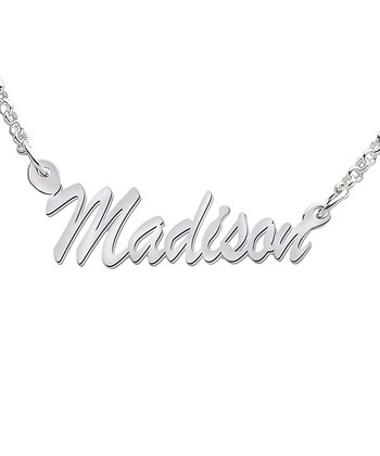 Sterling Silver Hollywood Script Personalized Necklace
