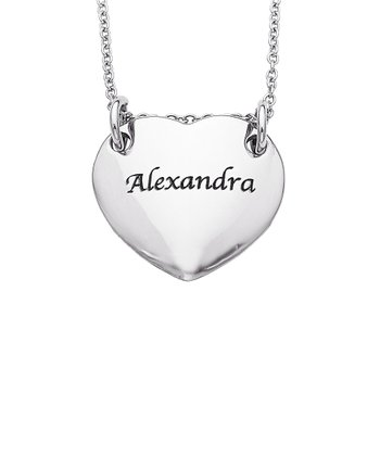 Stainless Steel Heart Name Personalized Pendant Necklace