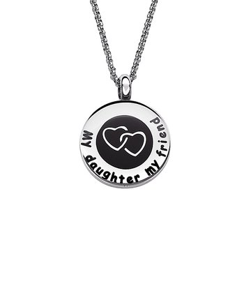 Stainless Steel 'My Daughter My Friend' Pendant Necklace