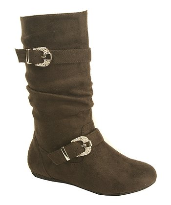 Brown Suede Katie Boot