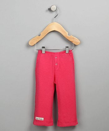 Dark Pink Snap-Fly Thermal Pants
