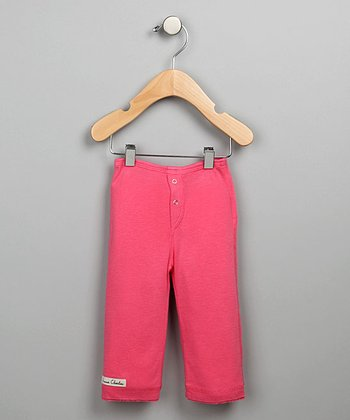 Dark Pink Snap-Fly Pants