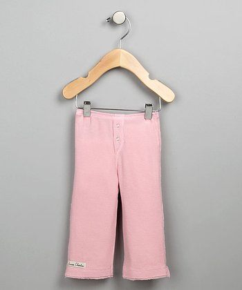 Pink Snap-Fly Thermal Pants