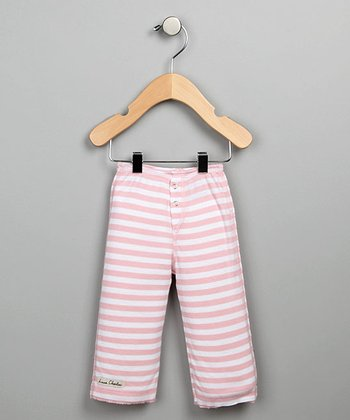 Pink Stripe Snap-Fly Pants