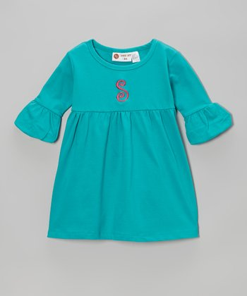 Teal Personalized Swing Dress - Infant, Toddler & Girls