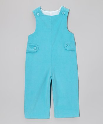 Turquoise Corduroy Overalls - Infant & Toddler
