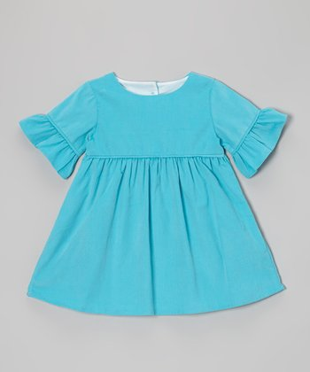 Turquoise Corduroy Emma Dress - Infant, Toddler & Girls
