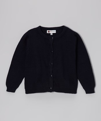 Navy Cardigan - Infant, Toddler & Girls