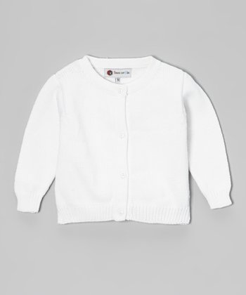 White Cardigan - Infant & Girls