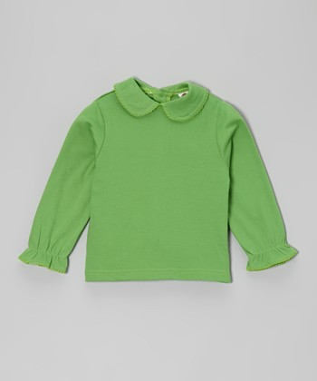 Green Peter Pan Top - Infant, Toddler & Girls