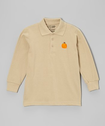 Khaki Pumpkin Polo - Boys