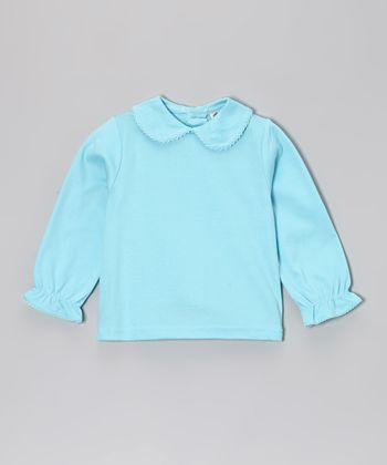 Aqua Peter Pan Top - Girls