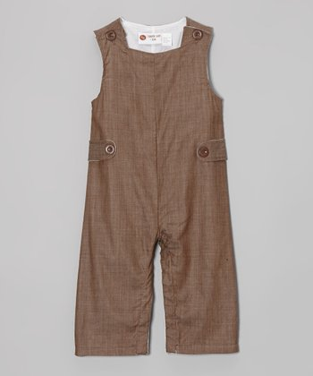 Brown Chambray Overalls - Infant & Toddler