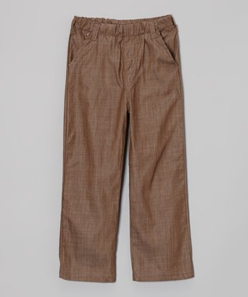 Brown Chambray Pants - Infant, Toddler & Kids