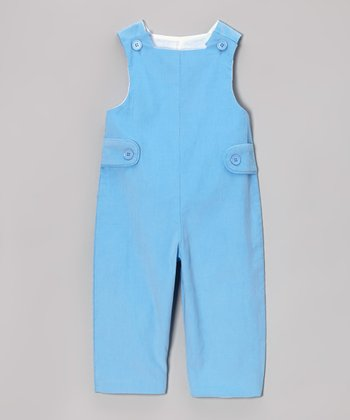 Light Blue Corduroy Overalls - Infant & Toddler