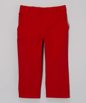Red Corduroy Pants - Infant & Boys