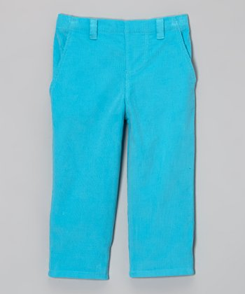 Turquoise Corduroy Pants - Infant, Toddler & Boys