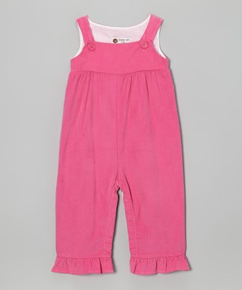 Pink Corduroy Ruffle Overalls - Infant, Toddler & Girls