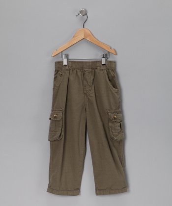 Olive Ripstop Cargo Pants - Infant, Toddler & Boys