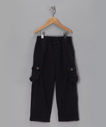 Black Canvas Cargo Pants - Toddler & Boys