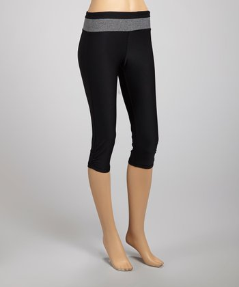Black & Heather Capri Leggings