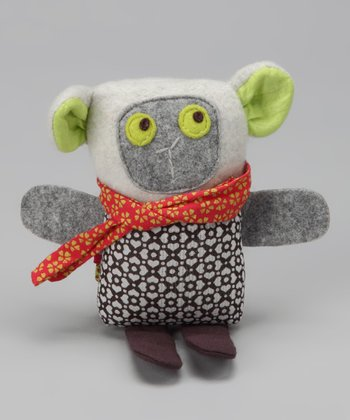 Flannel Gray Baby Josie the Lamb 4'' Plush Toy