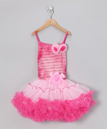 Hot Pink Rosette Tutu Dress - Infant