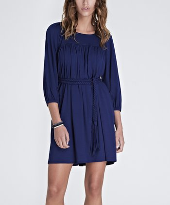 French Navy Leighton Dress