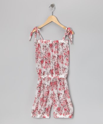 White Rose Romper