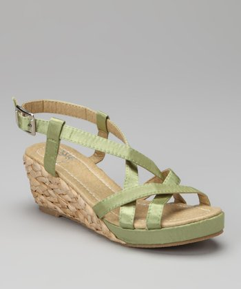 Sage Strappy Show Wedge Sandal